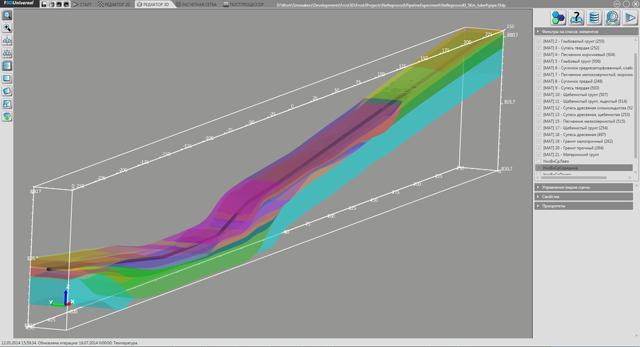 Модель протяженного участка трубопровода