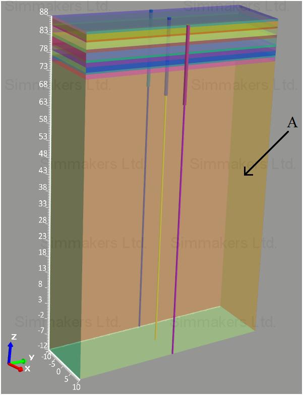 3D модель расчетной области
